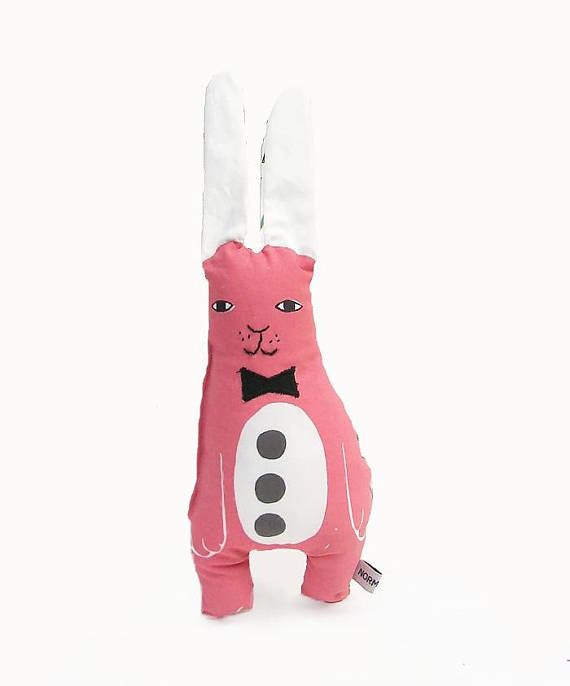 Stuffed animal: Pink rabbit