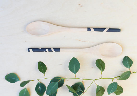 Wooden Spoon Set: Charcoal Grey