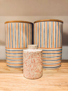 Summer Rainbow Stripe Canister