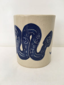 Snake Spirit Animal Tumbler / Cup : Blue