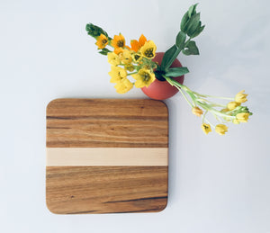 Two tone maple rectangle cutting board