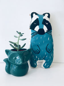 Teal Green Fox Planter
