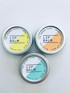 The Orange Clove Lip Balms