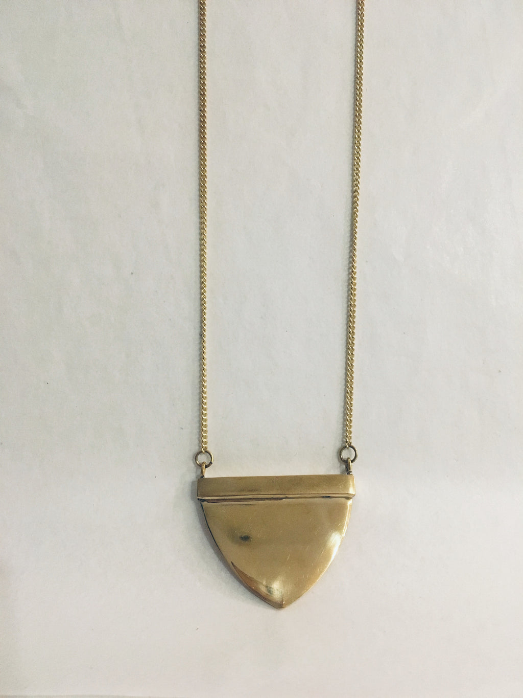 Solid Brass Long Necklace
