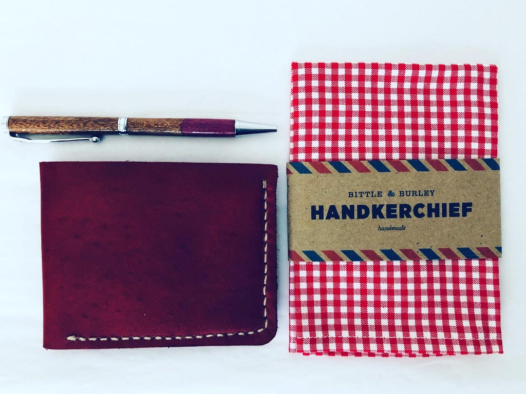 Handkerchief: Red and White Checks