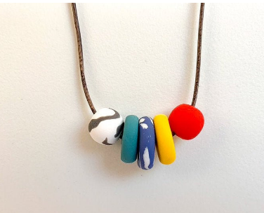 Poppy Polymer Clay Necklace