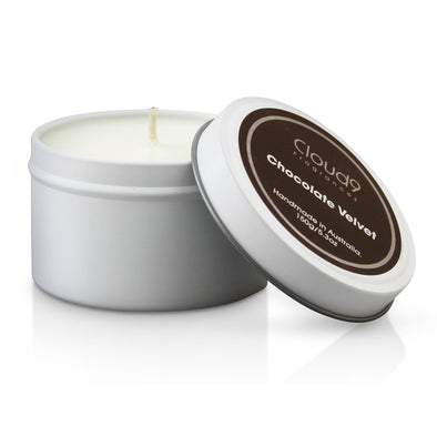 Chocolate Velvet Scented Candle Tin