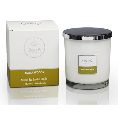 Amber Woods Large Scented Candle