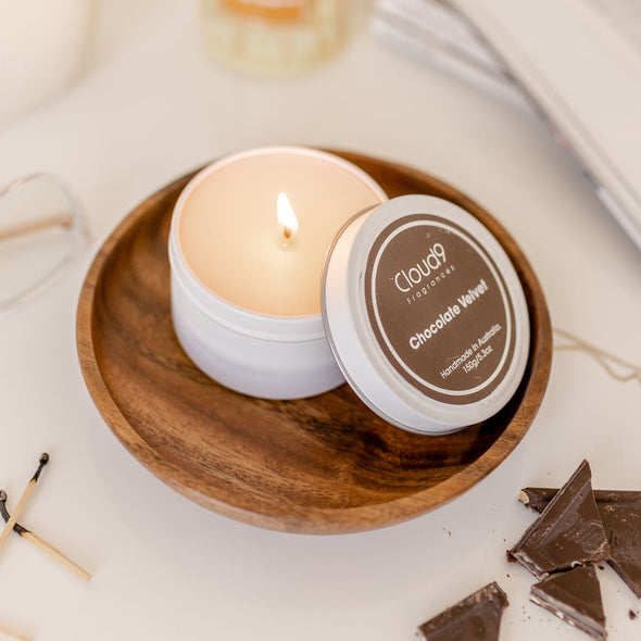 Sandalwood & White Musk Scented Candle Tin