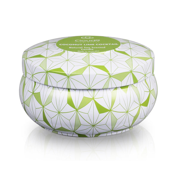 Coconut Lime Cocktail Decorative Scented Candle Tin