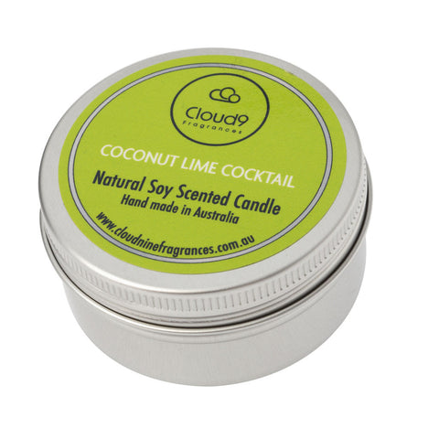 Coconut Lime Cocktail Scented Candle Travel Tin