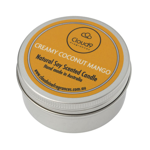 Creamy Coconut Mango Scented Candle Travel Tin