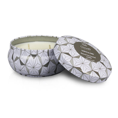 Earth & Fire Decorative Scented Candle Tin
