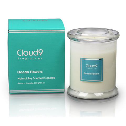 Ocean Flowers Scented Candle