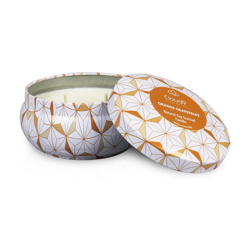 Orange Grapefruit Decorative Scented Candle Tin