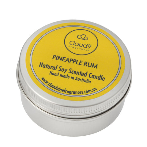 Pineapple Rum Scented Candle Travel Tin