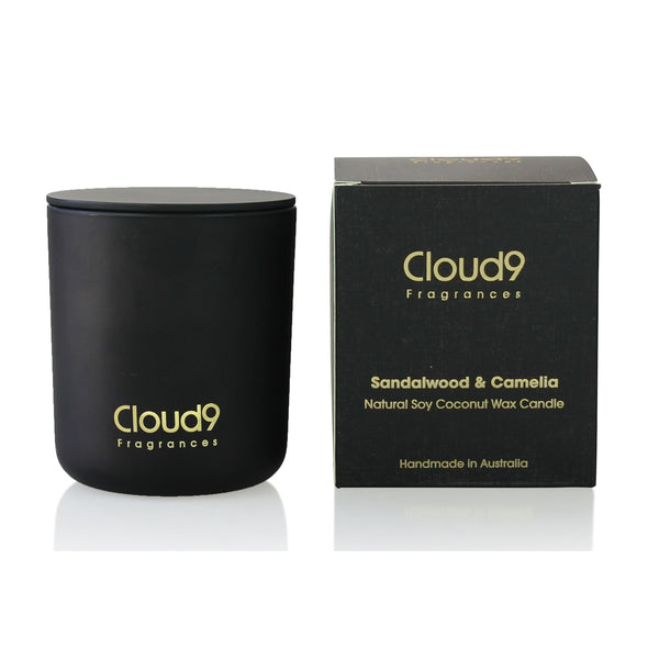 Sandalwood & Camelia Scented Candle