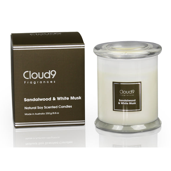 Sandalwood & White Musk Scented Candle