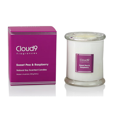 Sweet Pea & Raspberry Scented Candle