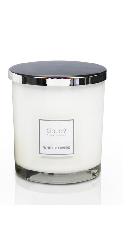 White Flowers Large Scented Candle
