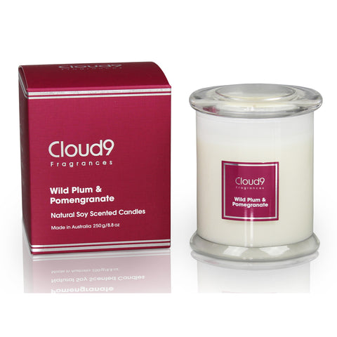 Wild Plum & Pomegranate Scented Candle