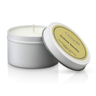 Creme Vanilla Scented Candle Tin