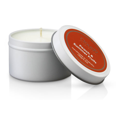 Peach & Summer Fruits Scented Candle Tin