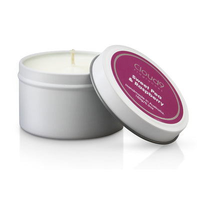 Sweet Pea & Raspberry Scented Candle Tin