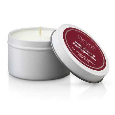 Wild Plum & Pomegranate Scented Candle Tin