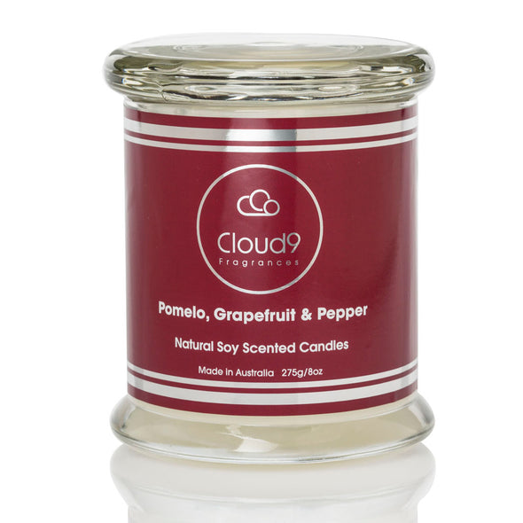 Pomelo, Grapefruit & Pepper Scented Candle Jar