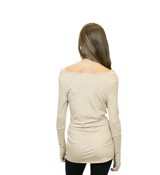 CA2 Long Sleeve Cowl Neck Tunic, Sustainable. Made in the USA