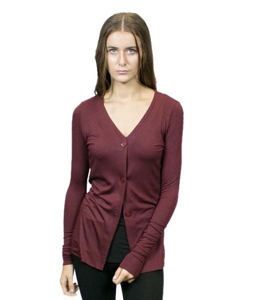 CA3 3 Buttons Front Cardigan. Sustainable. Made in the USA