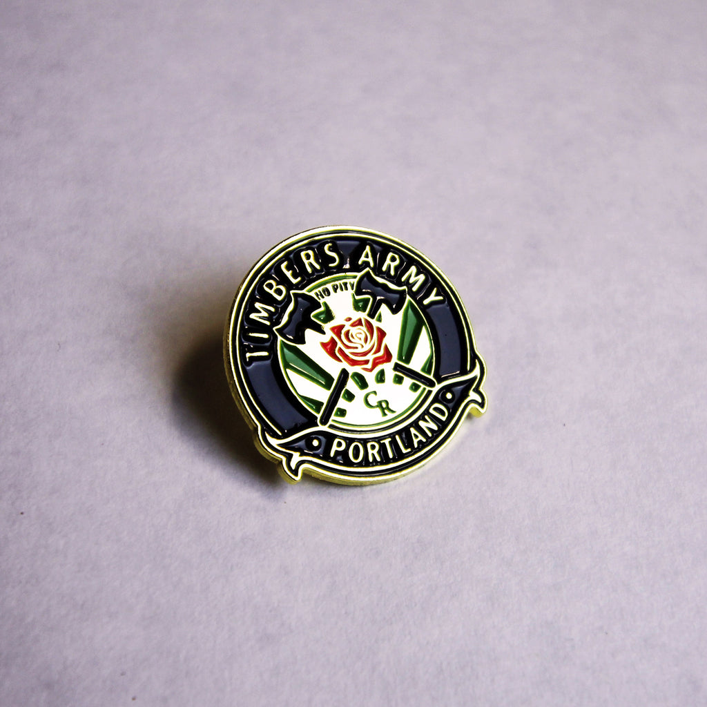 Timbers Army Crest Pin (Gold)