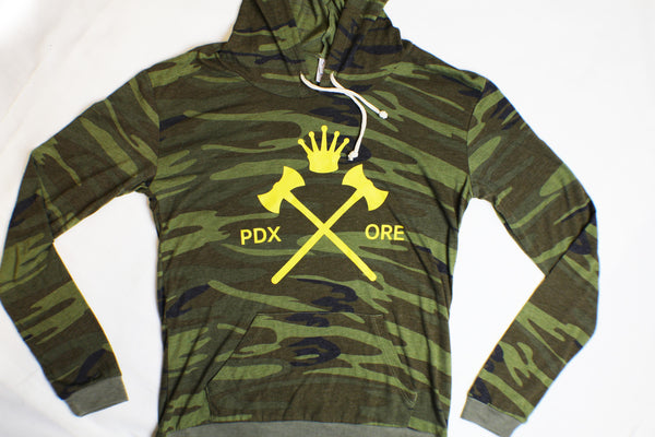 Women's Crossed Axe & Crown Hoody