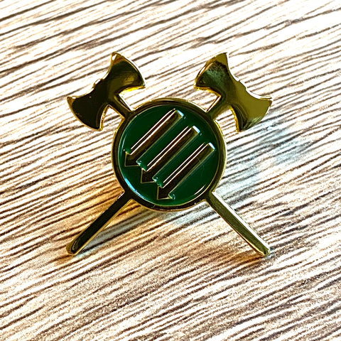 Axes & Irons Pin (Green & Gold)