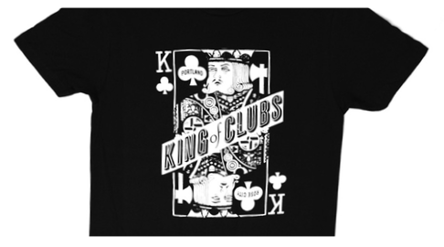 Back in Black King of Clubs Women's Shirt