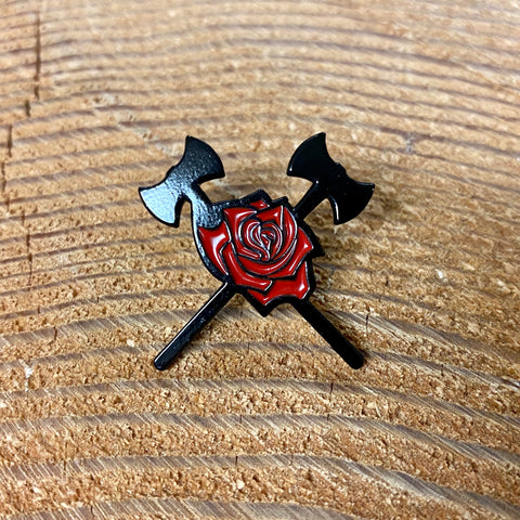 Axes & Rose Pin