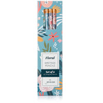 Floral Pencils | Set of Six Premium Wood Pencils with Decorative Flower Themed Designs