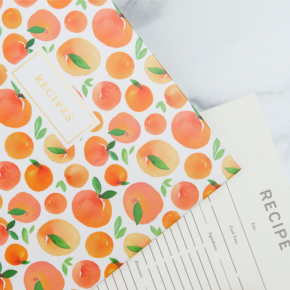 Recipe Binder Kit 8.5x11 (Peach Dream) - Full-Page with Clear Protective Sleeves and Color Printing Paper for Family Recipes