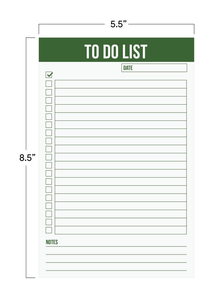 "To Do List Magnetic Notepad 5.5"" x 8.5"" - Green (50 Sheets)"