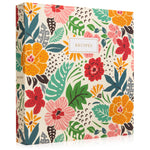 Recipe Binder Kit 8.5x11 (Tropical Floral) - Full-Page with Clear Protective Sleeves and Color Printing Paper for Family Recipes
