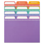 Rainbow Recipe Card Dividers (Set of 24)