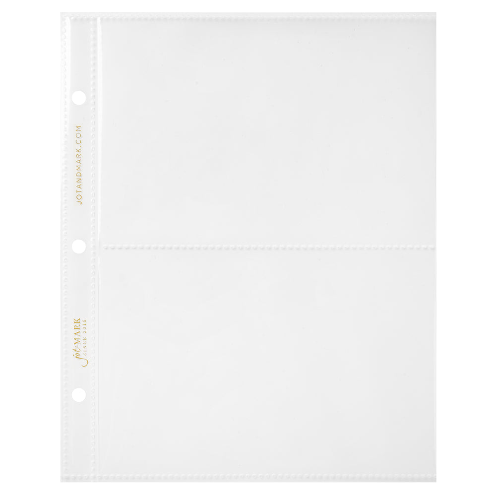 "Recipe Binder Protective Sleeves 8.5"" x 9.5"" - Two Card Sleeves Only"