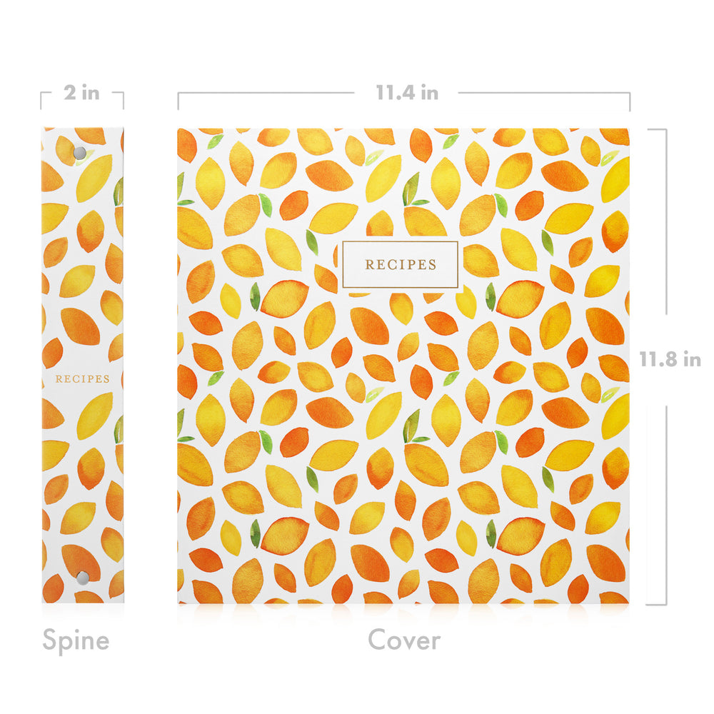 Recipe Binder Kit (Dulcet Bijou) - Recipes Binder, Recipe Cards, Classic Dividers, and Protective Sleeves