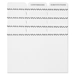 Classic Recipe Card Dividers (Set of 24)