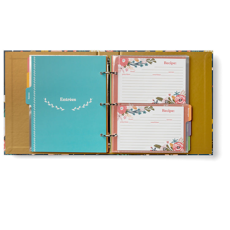 "Recipe Binder Protective Sleeves - 10 Single-Pocket 9.5"" x 8.5"" Sleeves for Classic-Size Binder"