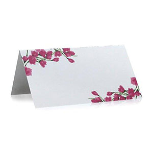 Place Cards - Fuchsia Tulips (50 count)