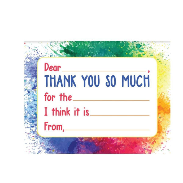 Kids Thank You Cards - Paint (set of 20)