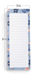 Floral Print Shopping List Pads (Set of 3)
