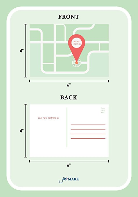 We're Moving Postcards - Map (Pack of 50)